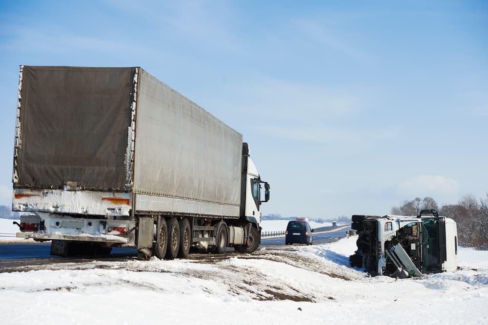 Truck Crash in snow