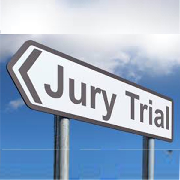 Jury Trial Sign